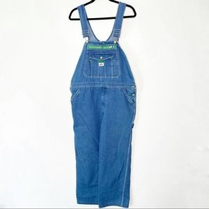 Liberty 38x30 Denim with Green Trim Jean Overall